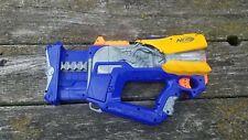 Nerf N-Strike Firefly Rev-8 Gun Blaster Blue Gray 8 Dart Barrel Tested and Works
