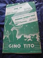 Partitur Für Toi Ersten Rendezvous Von Gino Tito Et Albert Charbonnel 1958
