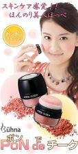 JAPAN COSMETIC BUHNA PUFF POWDER PON DE CHEEKS MINERAL FACE SKIN BEAUTY PINK