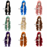10 Colors 80CM Fashion Long Curly Women Costume Cosplay Daily Party Wig Gifts