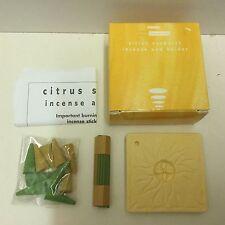 Avon Citrus Sunburst Incense and Holder set