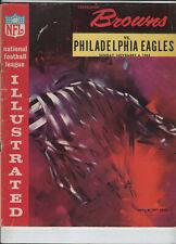 Cleveland Browns Official Program 11/04/1962 Browns vs Eagles