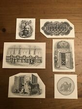 Old American bank note company vignettes lot of 6, Banking