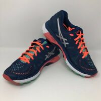 ASICS Womens GEL-Kayano 23 Running Shoes Blue T696N Low Top Lace Up Mesh 7.5