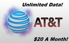 Unlimited Data At&T Plan - $20 / Month!