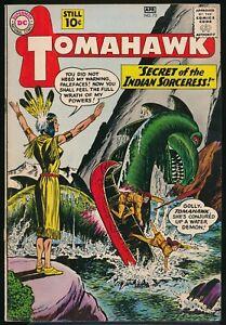 TOMAHAWK No. 73 1961 DC Western Comic Book SECRET of the INDIAN SORCERESS!  VG+