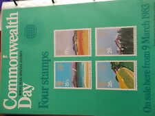 ROYAL MAIL A4 POST OFFICE POSTER 1983 COMMONWEALTH DAY