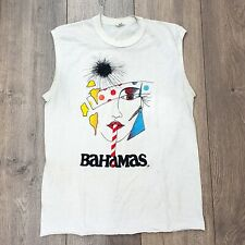 Rare Vintage 80s Punk Woman's Face Bahamas Souvenir Tshirt Tank M