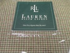 Ralph Lauren GREAT BARRINGTON Wool Tan Houndstooth Checked Blanket - Full/Queen