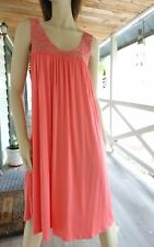 Jeanswest Dress Pink Apricot Sleeveless Lace Trim Stretch Belt Size XL