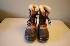 Men's LL Bean Winter Snow Rain Duck Boots W/ Liner Size 8
