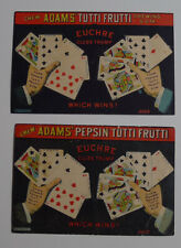 1900's Adams Chewing Gum Lot of 2 different advertising