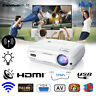 HD 1080P 3D Android 6.0 WiFi BT LED Projector 6400LM 8GB Multimedia Home Theater