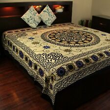 Cotton Celtic Knot Tapestry Mandala Sunflower Tablecloth Floral Coverlet Full