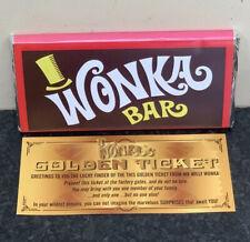 Willy Wonka 100g Chocolate Bar LARGE ! Gift Novelty Golden Ticket 1971 Best Bar
