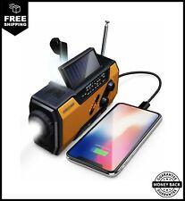 FosPower Emergency Solar Hand Crank Portable Radio Noaa Weather Radio