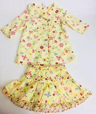 Baby Gap Girls Yellow Butterfly Jacket Rain Coat & Skirt Floral 0-3 MOS 3-6 MOS