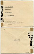 DUTCH WEST INDIES WW2 CENSOR COVER KNSM STEAMSHIP CO PRINTED CARRIED in SHIP INO
