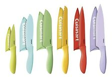 Cuisinart 12-Piece Ceramic Coated Color Knife Set with Blade Guards Multicolo...