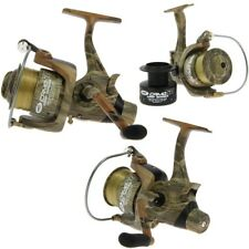 3 x NGT CAMO 60 3BB CARP RUNNER FREE SPOOL FISHING REELS SPARE SPOOL 12LB LINE