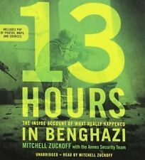 13 Hours: Inside Account of What Happened in Benghazi -Mitchell Zuckoff -CD Audo
