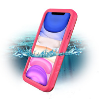 New Waterproof Case for Apple iPhone 11 6.1 Inch Rugged Case Cover Pink