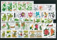 BULGARIA Flora. Plants FLOWERS (III) - lot of 6 complete sets (37 stamps) MNH