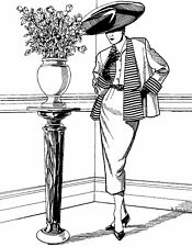 Folkwear Swing Suit #255 Trapeze jacket Pencil Skirt Sewing Pattern folkwear255