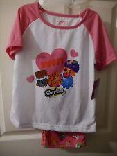 Girls Shopkins Pajama Pants & Shirt Sleepwear Set Size 8 New