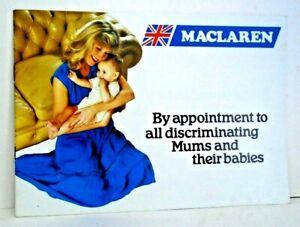 Vintage Maclaren Pushchair Brochure from the Seventies - Mint Ex Shop Stock.