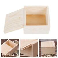 Square Jewelry Box Storage Case Art Decor Painting Craft Earrings Container LS