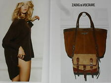 PUBLICITE ADVERTISING  2012  ZADIG & VOLTAIRE  haute couture hiver ( 2 pages)