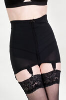 060 firm control highwaisted chevron girdle with 6 suspender tabs black or white