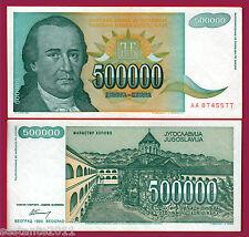 YUGOSLAVIA - 500000 500.000  DINARA 1993 Prefix AA  - P 131 - QFDS+ / AUNC+