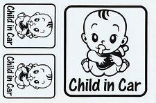 PLANCHE A4 TUNING 3 AUTOCOLLANT STICKER BEBE A BORD CHILD IN CAR NOIR 26,5X17,5