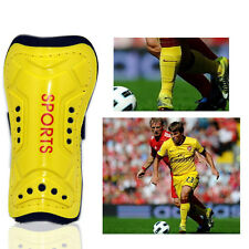 Football Soccer Sports Shin Guards Pads Shinguard Protector Ankle Support Yellow