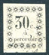 GUADELOUPE-1878-9 Postage Due 30c Black/White Sg D3 FINE USED V17252