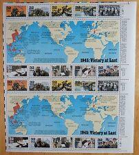#2981 MNH FULL SHEET/20, 32c 1945:VICTORY AT LAST, Original Gum, Perfect Cond
