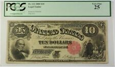 PCGS Currency 10 $25 Graded United States Large Size Notes
