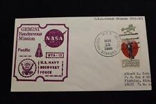 NAVAL SPACE COVER 1966 GEMINI GTA-12 RECOVERY SHIP USS J STRAUSS (DDG-16) (2281)