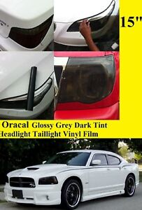 "15"" x 60"" Glossy  Tint Headlight Taillight Vinyl Film Oracal Made In usa"