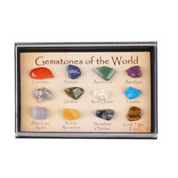 15 Stones Polished Healing Crystal Natural Gemstone Collection Stone Kit Set