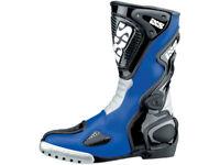 iXS Motorradstiefel Victory | Blau-Schwarz | Racing Stiefel aus Rindsleder