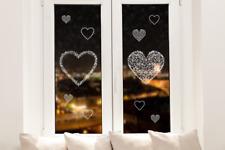 Hochwertige Fenstersticker Weihnachtsherzen Herzen Weihnachten Fensteraufkleber