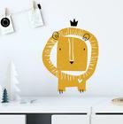 Hand Drawn Cartoon Lion Wall Stickers Kids Children's Room Home Decor Wallpaper
