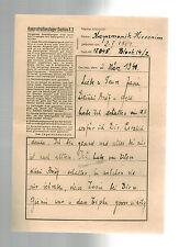 1941 Germany Dachau Concentration Camp Letter KZ Hieronim Kazyzmonik