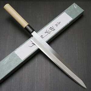 Japanese Tojiro Shirogami Steel Sushi Sashimi Yanagiba Knife 270mm F-909 Japan