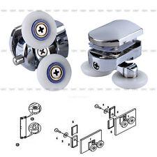 New 2pcs Twin Bottom Zinc Alloy Shower Door Rollers Runners Wheels 26mm Wheel