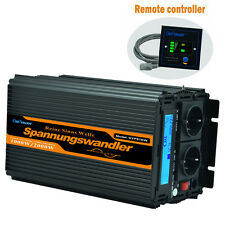 POWER INVERTER 12V 240V PURE SINE WAVE 1000W 2000W LCD SOFT START CAR RV