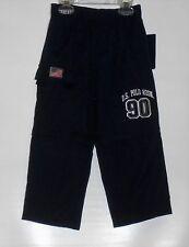 U.S. Polo Assn Toddler Boys Elastic Waist Conversion Wind Pants Navy 3T NWT